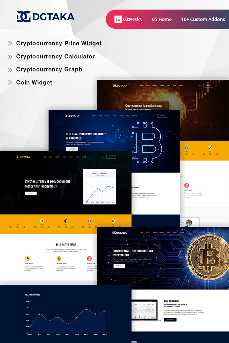 Dgtaka - CryptoCurrency WordPress Theme