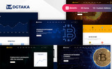 "WordPress Theme namens ""Dgtaka - CryptoCurrency"""