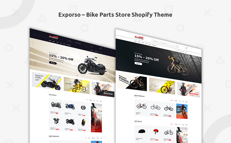 Tema para shopify - Categoría: Coches y motos - versión para Desktop