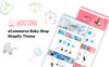 "Template Shopify Responsive #73918 ""Jadusona - Baby Shop"" Screenshot grande"