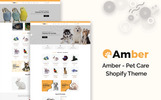 "Responzivní Shopify motiv ""Amber - Pet Care"""