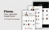 "Shopify Theme namens ""Flone - Minimalis"" Großer Screenshot"