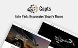 Capts - Auto Parts Responsive Tema de Shopify  №82547