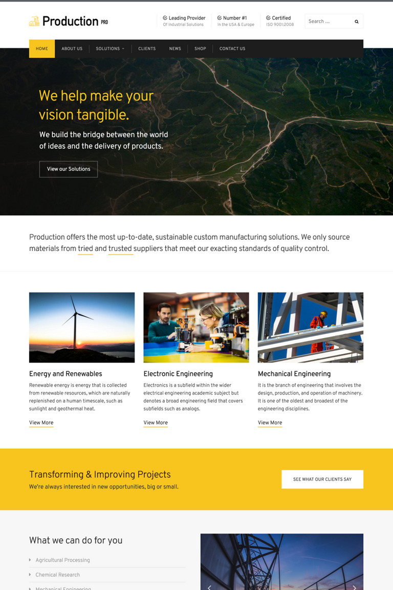 Production Pro WordPress Theme Big Screenshot
