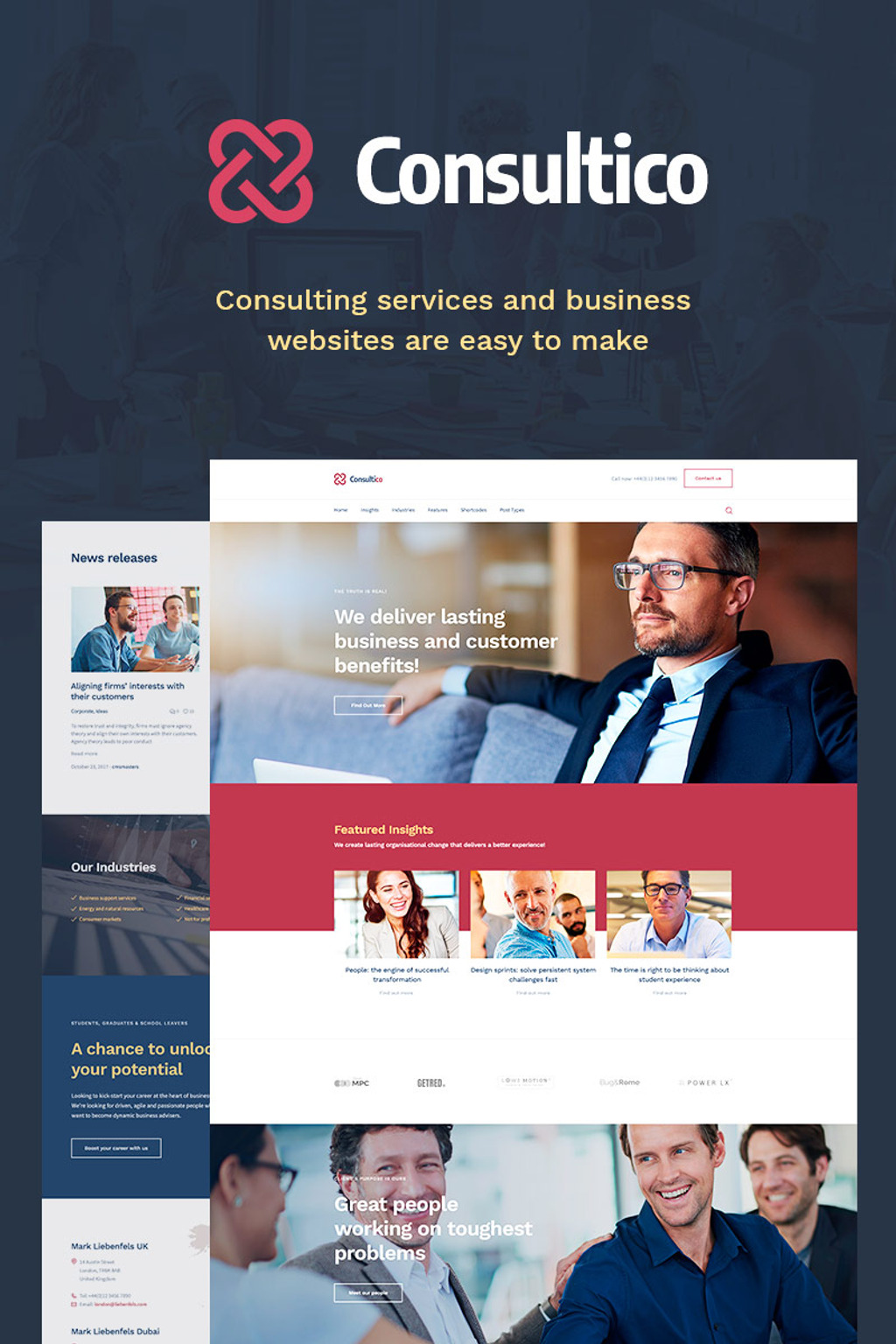 Consultico - Consulting WordPress Theme Big Screenshot