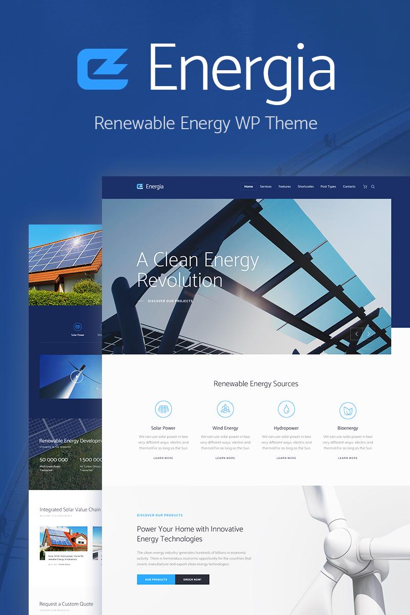 Адаптивный шаблон №70903 на тему бизнес и услуги, окружающая среда, солнечная энергия
