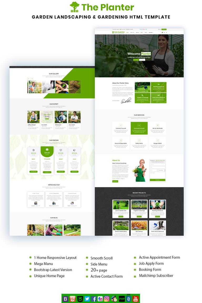 The Planter Website Template #69226