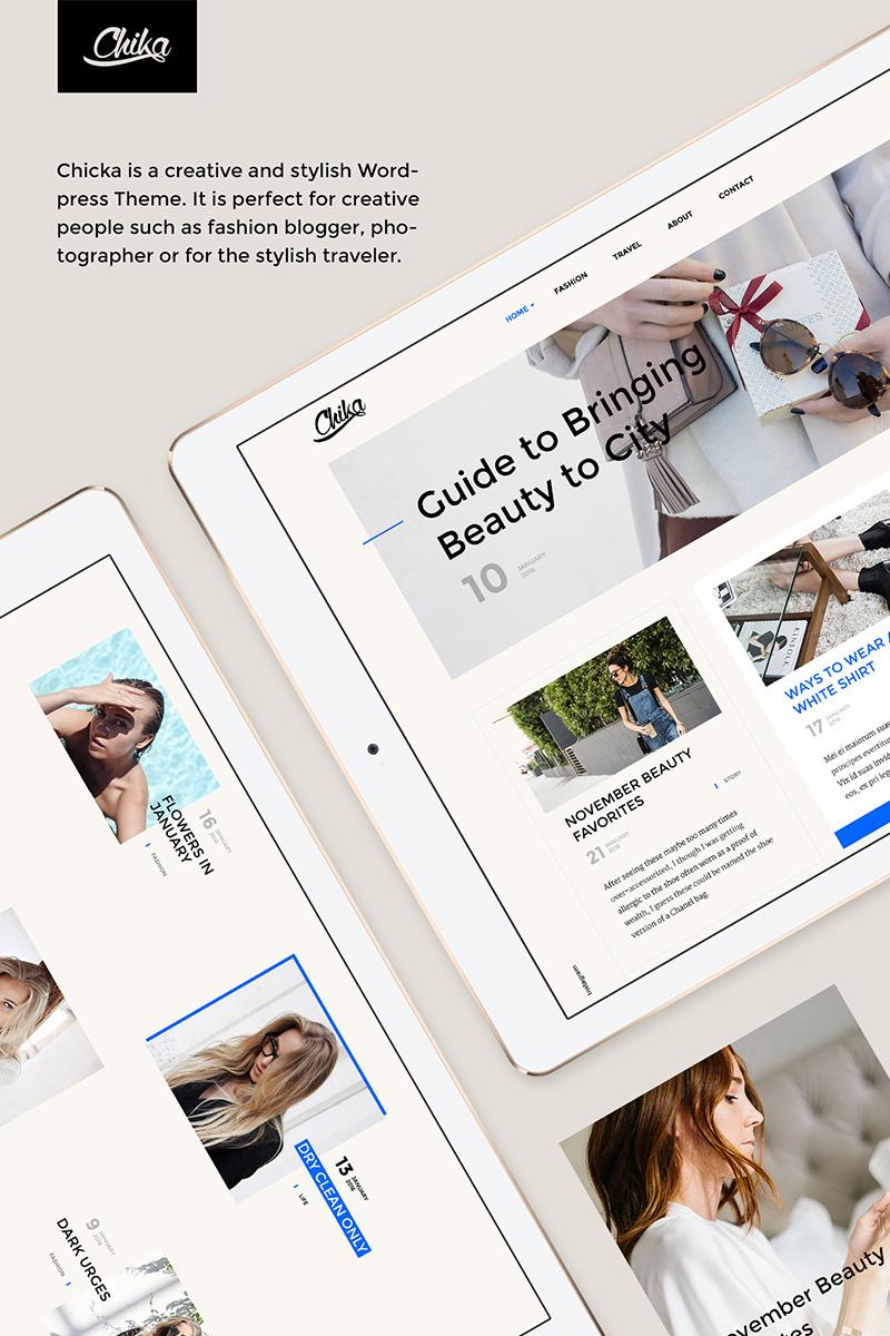 Chika - Creative WordPress Blog Theme WordPress Theme #64632