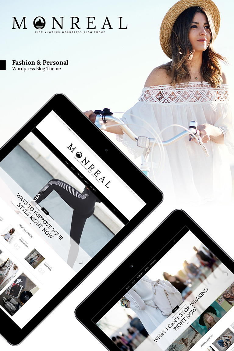 Monreal - Fashion Blog WordPress Theme Big Screenshot
