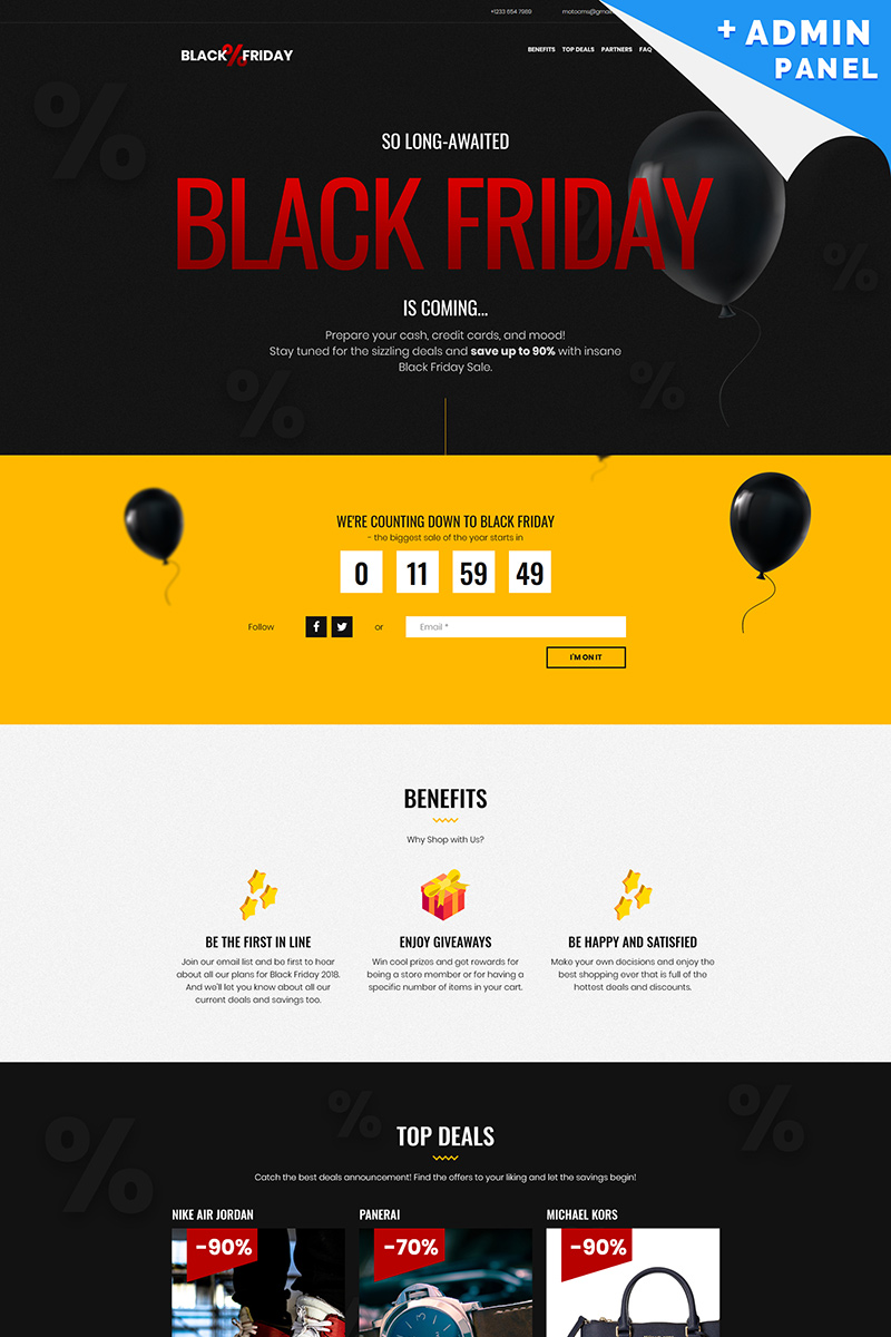 black friday landing page template 73538