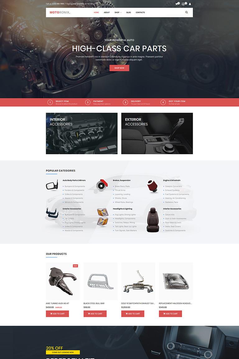 MotoCMS интернет-магазин  73678 на тему автомобиль от TemplateMonster d26487e23e2fa