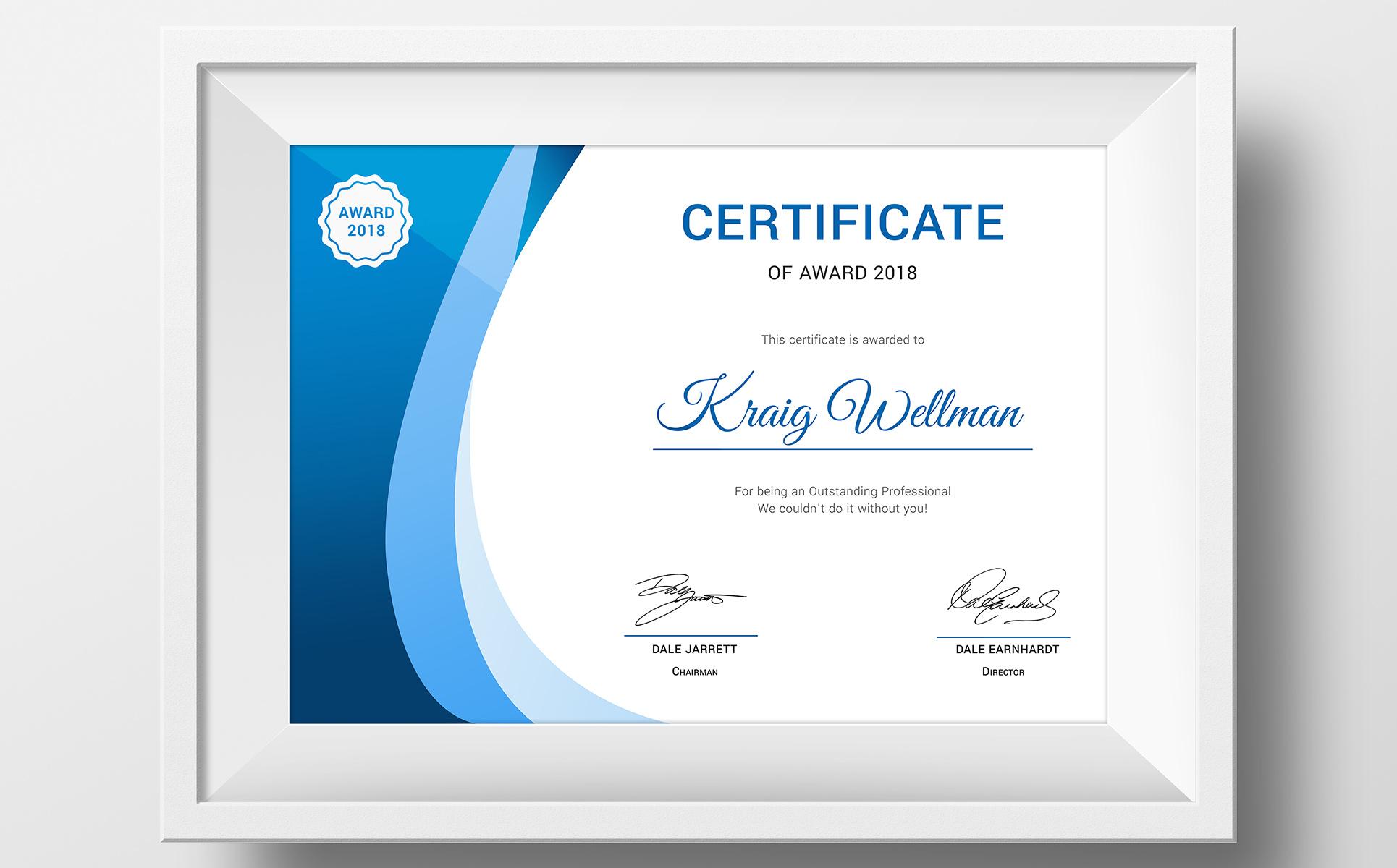 Award Certificate Template 73891