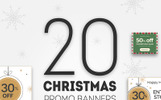 20 Christmas Promo Banners Bundle