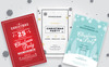 3 Christmas Invitation Flyers Corporate Identity Template Big Screenshot