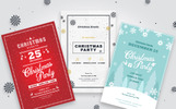 3 Christmas Invitation Flyers Corporate Identity Template