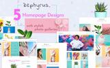 Zephyrus - Creative  HTML Portfolio Website Template