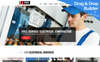 Wire - Electrical Company Moto CMS 3 Template New Screenshots BIG