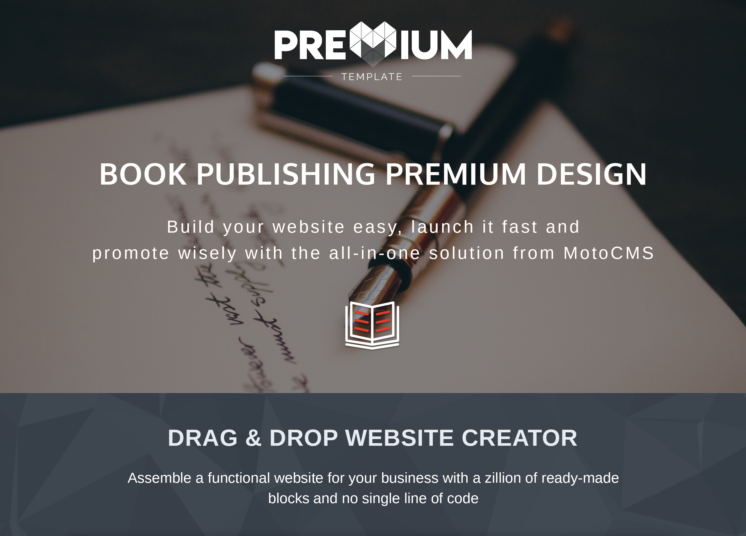 Book Publishing Moto CMS 3 Template