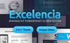 """Tema PowerPoint #82113 """"Excelencia Minimalist PowerPoint Slides Design"""" Screenshot grande"""
