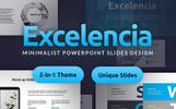 """Tema PowerPoint #82113 """"Excelencia Minimalist PowerPoint Slides Design"""""""