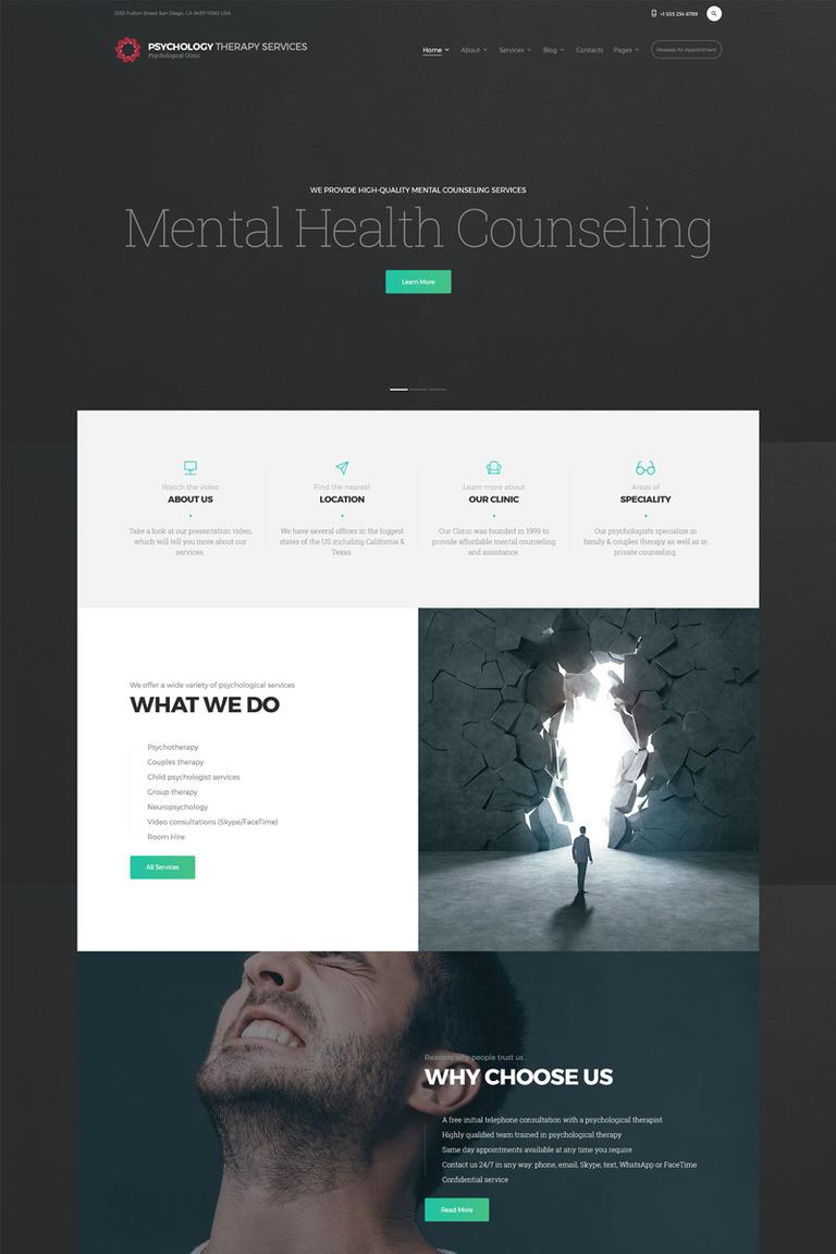 Plantilla Web #67685 para Sitio de Psicólogos