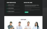 Responsive Website template over Psycholoog