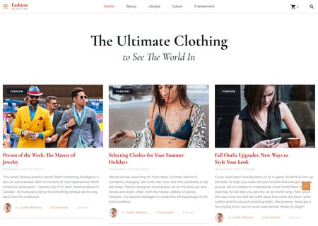 Fashion Magazine Multipage HTML5