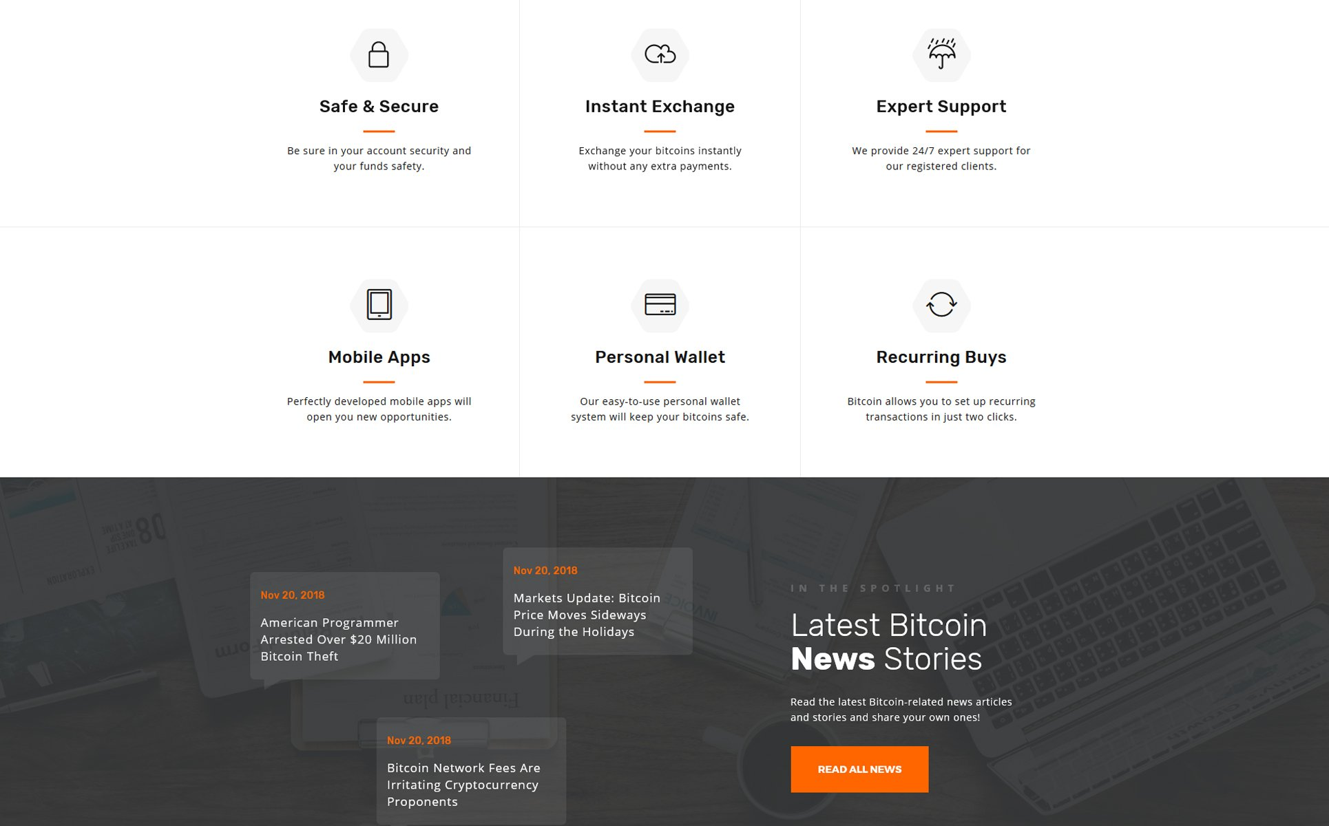 Blockchain Multipage HTML Template