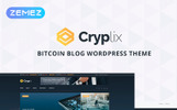 "WordPress шаблон ""Cryplix - Bitcoin Blog"""
