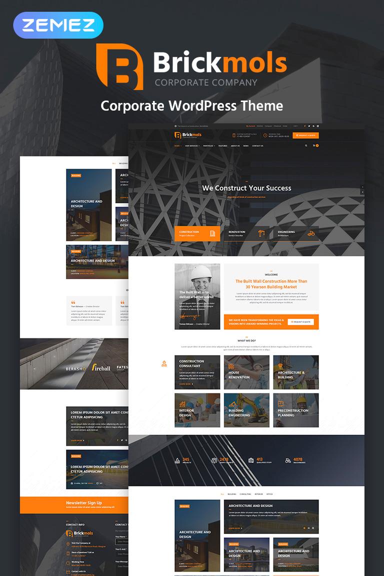 Brickmols - Responsive Construction & Architecture Company WordPress ...