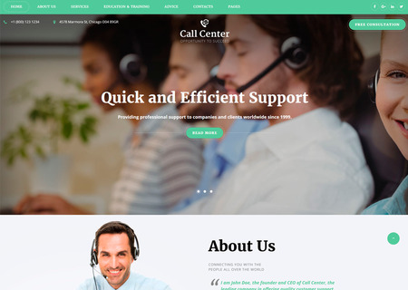 Call Center Multipage HTML