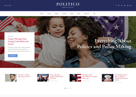 Political Magazine Multipage HTML5