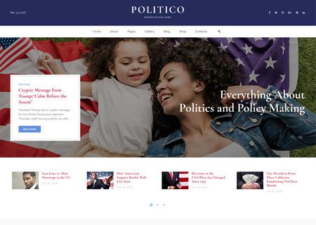 Political Magazine Multipage HTML5