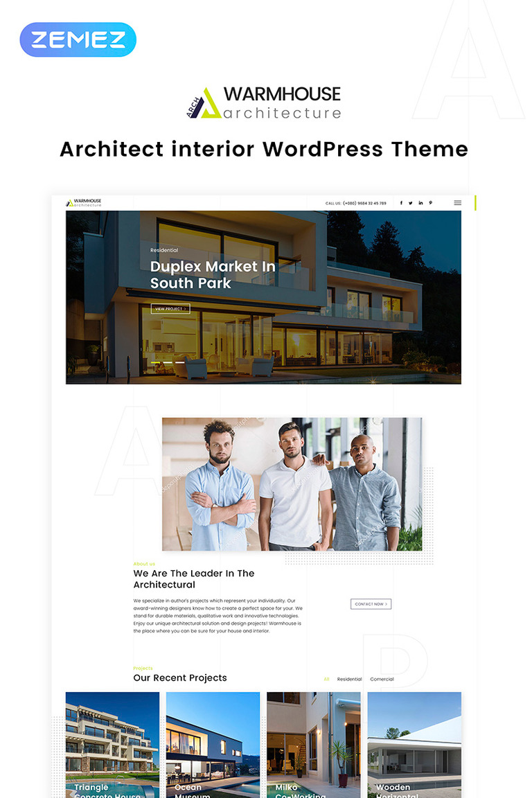 Warm House - Architecture & Interior Design WordPress Theme