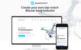 Responsivt Quadcraft - Drone Startup WordPress-tema