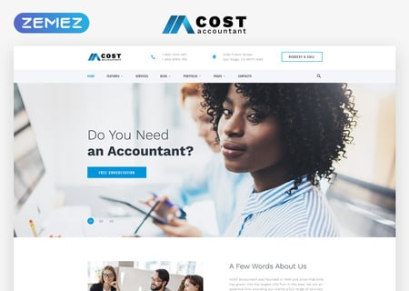 Accountant Multipage HTML5