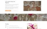 Plantilla Web para Sitio de Tienda de Artículos para Boda