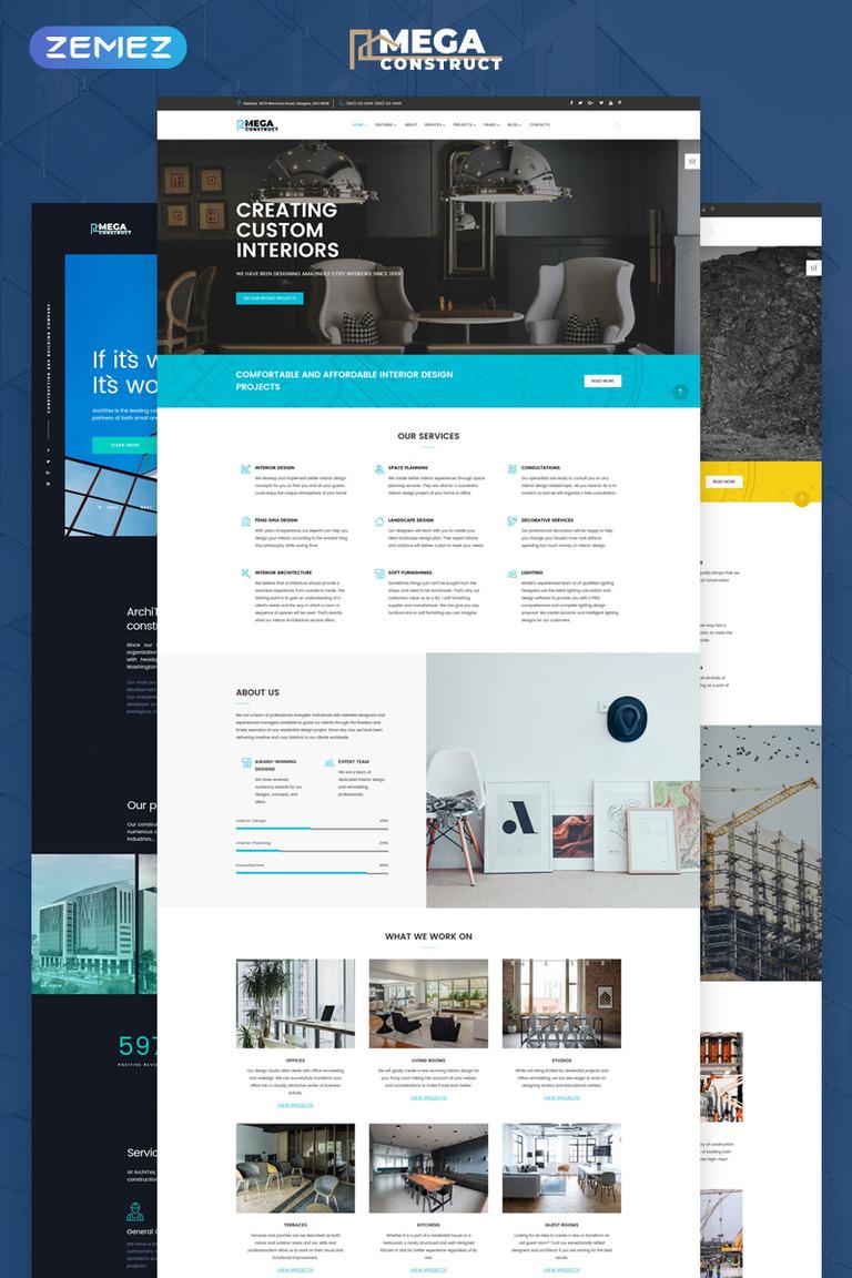 Website Vorlage #67941 für Baufirma