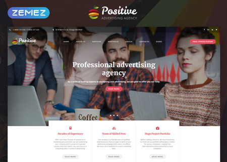 Advertising Agency Multipage HTML5