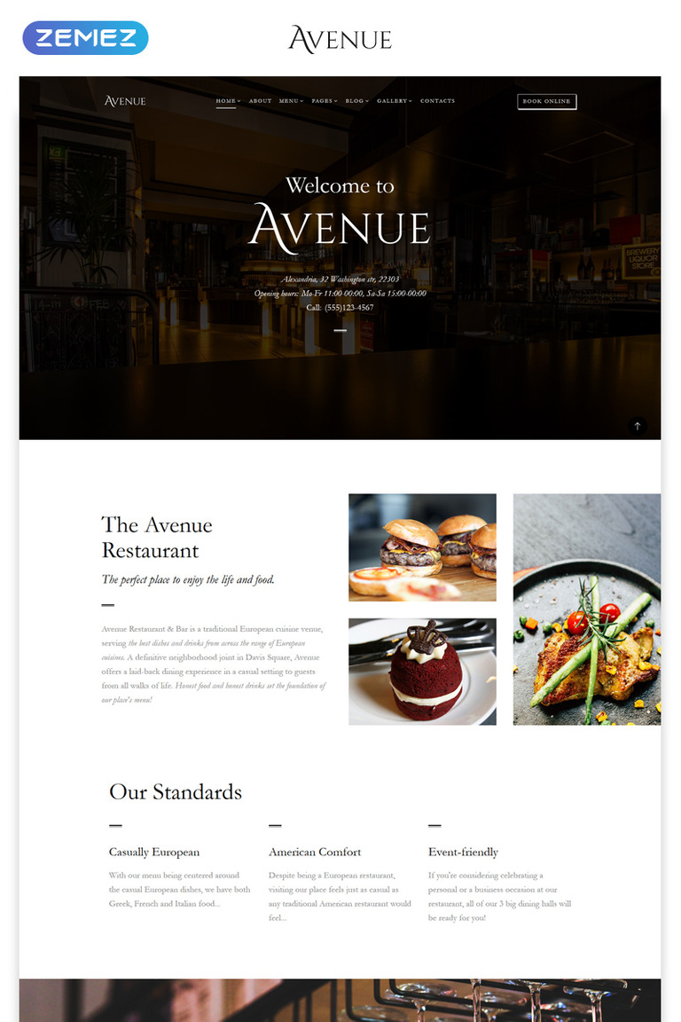Restaurant Multipage HTML Template - Html restaurant menu template