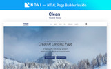 """Clear - Simple Creative Agency HTML with Novi Builder"" 响应式着陆页模板"