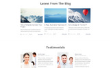 Clear - Simple Creative Agency HTML with Novi Builder Landing Page Template