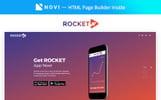 Rocket - Fabulous App Building Agency Compatible with Novi Builder Landing Page Template
