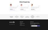 """Responzivní Šablona mikrostránek """"Rocket - Fabulous App Building Agency Compatible with Novi Builder"""""""