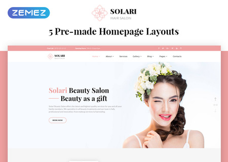 Beauty Salon HTML5