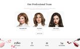Plantilla Web para Sitio de Salones de belleza