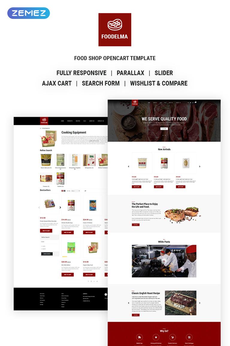 OpenCart Vorlage #68414 für Essen und Trinken
