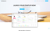 Intense - Startup Company Mobile App with Built-In Novi Builder Landing Page Template