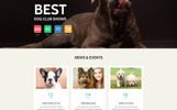 """Dog Club - Dog Breeder Compatible with Novi Builder"" Responsive Landingspagina Template"