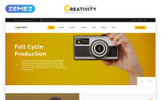 "Website Vorlage namens ""Creativity - Advertising Agency Multipage HTML5"""